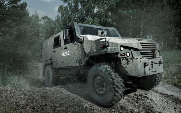 Nejnovější obrněná vozidla Eagle V od GDELS dostanou jednotky německé a švýcarské armády