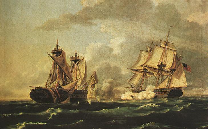 1812 - Ponížení, jaké britské královské loďstvo nepamatuje. Stažená vlajka a dezerce k Američanům