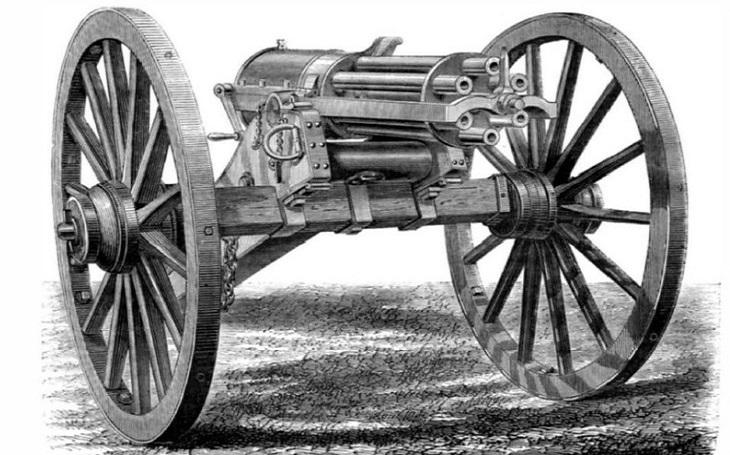 Historie Gatlingova kulometu - stará láska prostě nerezaví