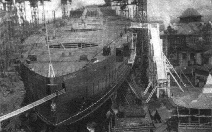 Měly být chloubou ruské flotily, bolševici však plovoucí kolosy neuměli dokončit
