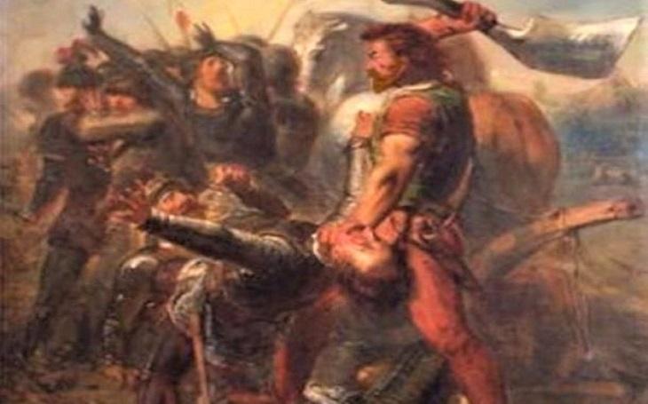 Obrovitý pirát s nadlidskou silou sekal hlavy naráz dvoumetrovým mečem. Zavražděná manželka ve fríském rebelovi probudila ,,zvíře&quote;
