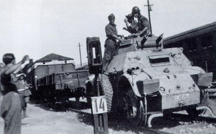 Autoblinda - italská obrněná vozidla pro horkou africkou půdu. Zabojovala si i na Balkáně či v SSSR