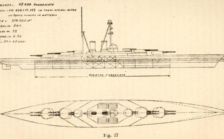 Italské bitevní křižníky měly být větší než legendární HMS Hood