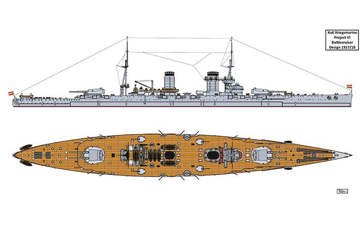 Zapomenuté bitevní křižníky rakousko-uherské monarchie měla být monstra s děly 420 mm