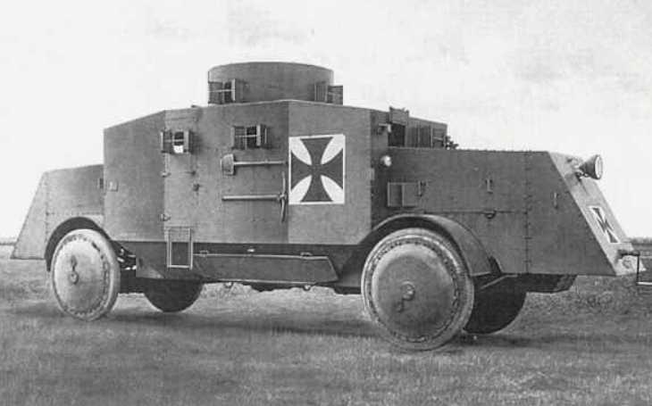 Německé obrněné vozidlo Büssing A5P muselo brzy vyklidit pole