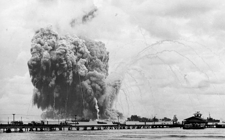 Zánik USS Mount Hood - z muniční lodi pojmenované po sopce nic nezbylo