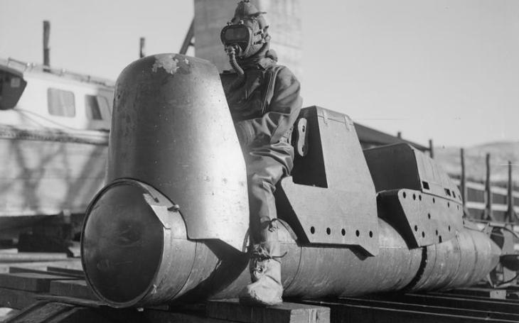 Lidské torpédo Chariot: vycházelo z italského vzoru, zlikvidovalo i těžký křižník