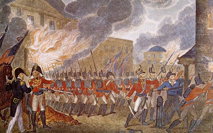 Vypálený Kapitol i Bílý dům a bouře, která zachránila Washington - srpen 1814