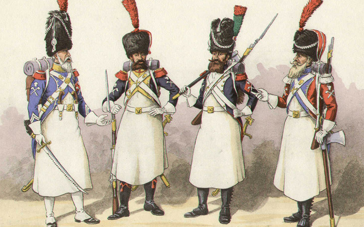 S obrovskou sekerou a plnovousem - Napoleonovi sapéři byli ozdobou svých regimentů