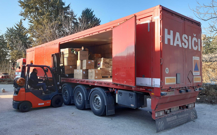 Hasičský záchranný sbor České republiky vypravil humanitární pomoc do Moldavska