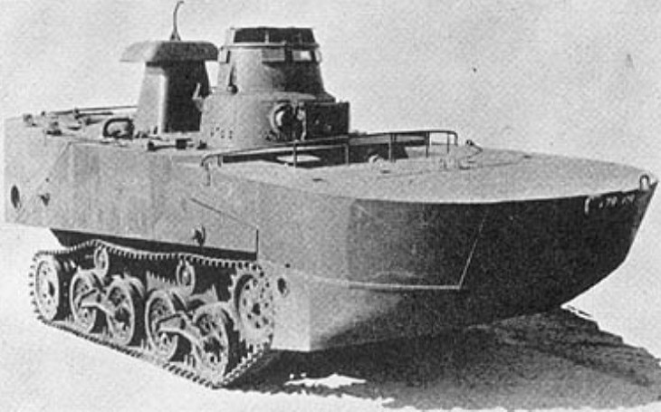 Japonci postavili plovoucí tank Typ 2 Ka-Mi. V klíčové bitvě však selhal