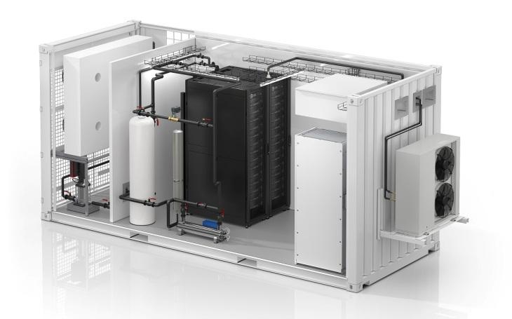 Společnost Schneider Electric představuje první modulární datové centrum EcoStruxureTM chlazené kapalinou