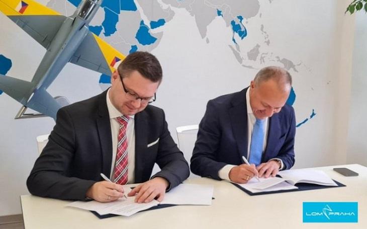 Podpis Smlouvy o strategické spolupráci mezi LOM PRAHA s.p. a AERO Vodochody AEROSPACE a.s.
