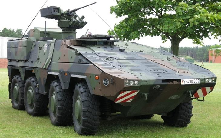Rheinmetall dokončil dodávku vozidel GTK Boxer pro Bundeswehr