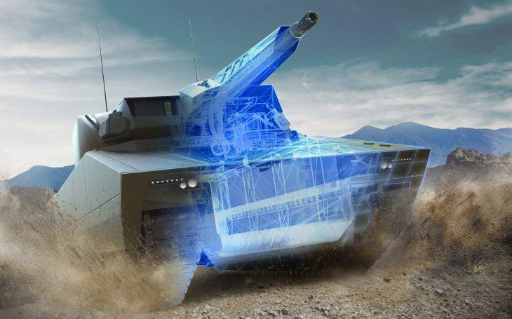 Koncept bojového vozidla s volitelnou posádkou společnosti Rheinmetall byl vybrán pro program americké armády