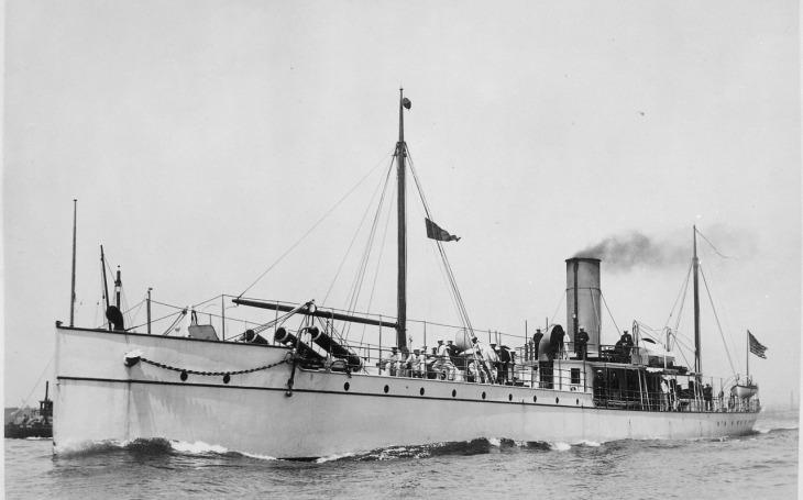 Experimentální křižník USS Vesuvius - poněkud jiná výzbroj než obvykle