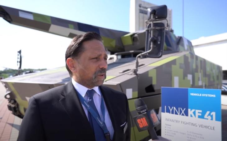 IDEB 2021: Rozhovor s viceprezidentem zbrojovky Rheinmetall Oliverem Mittelsdorfem o bojovém vozidlu Lynx KF41