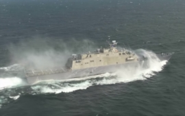 Video: Littoral Combat Ship v téměr 90 km/h